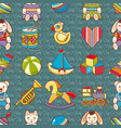 kid toy seamless pattern design element vector image vector image