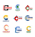letter c icons for corporate identity vector image vector image