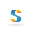 Letter S logo vector image vector image