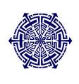 mandala geometry dark blur vector image