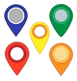 Map pins map markers set vector image