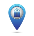 map pointer with present icon vector image