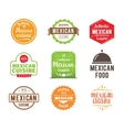 Mexican cuisine label vector image