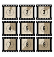movie countdown old projector film timer counter vector image