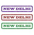 new delhi watermark stamp vector image