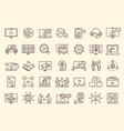 online meeting icons set vector image