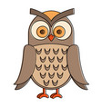 owl bird isolated icon vector image vector image
