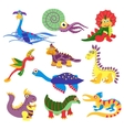 Prehistoric cute dinosaurus vector image