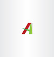 red green letter a logotype sign element vector image