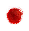 red painted circle vector image vector image