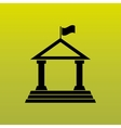 school building icon design vector image vector image