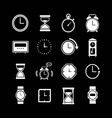 Set icons of clock vector image vector image