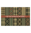 set plaid pattern seamless tartan patterns fabric vector image