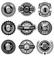 set vintage beer labels design elements vector image