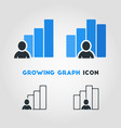 simple business icon of businessman with growing vector image vector image