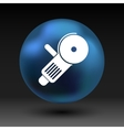 Simple icon angle grinder electro work vector image vector image