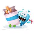 smoking hurts your teeth cartoon vector image vector image