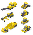 transport for laying and repair of asphalt vector image vector image