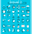 travel tourism and weather icons set 2 vector image vector image