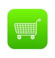 trolley icon green vector image vector image