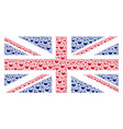 uk flag pattern of retort icons vector image vector image