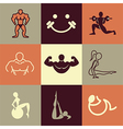 gym logo icons vector image
