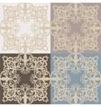 Vintage lace pattern set vector image