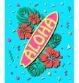 Aloha - Summer background in style of 80s with vector image
