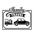 Family travel design vector image