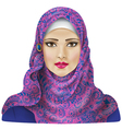 Girl in hijab vector image