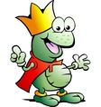 Hand-drawn of an happy Prince Frog vector image