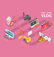 3d isometric conceptual how vector image