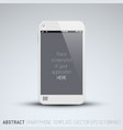 abstract white mobile phone template vector image vector image