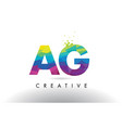 ag a g colorful letter origami triangles design vector image vector image