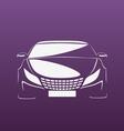 Auto in purple vector image vector image