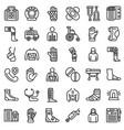 bandage icons set outline style