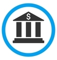 Bank Building Flat Rounded Icon vector image vector image