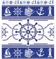 banners with nautical symbols vector image vector image
