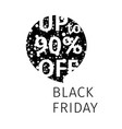 black friday sale banner speech bubble vector image vector image