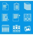 Blueprint icon set Paper vector image vector image