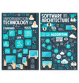 brochure for information technology vector image vector image