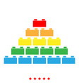 building block icon color fill style vector image vector image