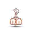 business head hunting line icon question sign vector image