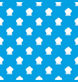 chef hat pattern seamless blue vector image