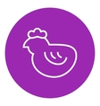 Chick line icon vector image vector image