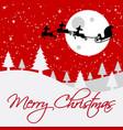 christmas card santa design vector image