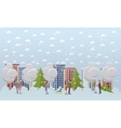 Christmas mood concept in flat vector image
