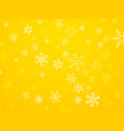 christmas yellow background with snowflakes vector image