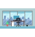 Cityscape and office room vector image vector image