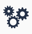 cogs symbol on white background settings icon vector image vector image